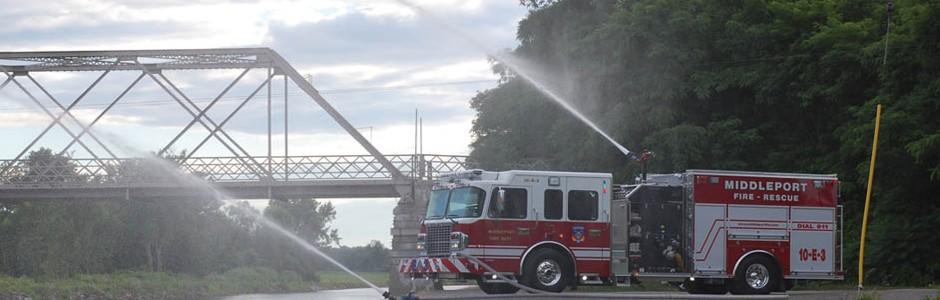 Fire Truck spray water